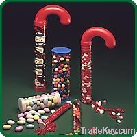 Plastic candy cane