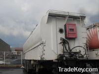Feed semi trailer tank with or without truck