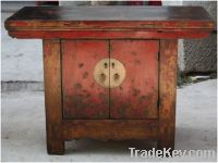 chinese antique furniture Red Two Door Cabinet