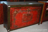 Chinese antique furniture pine wood Mongolia Cabinet