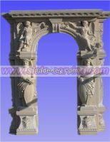 door surround, marble, carving, construction stone
