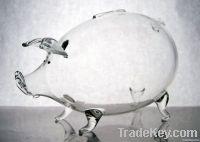 Hand made glass piggy banks