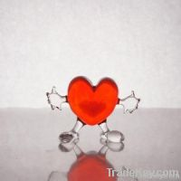 Hand made glass heart