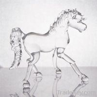 Hand made glass horse