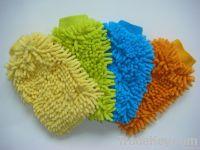 microfiber chenille glove, microfiber mitt for household or car washing