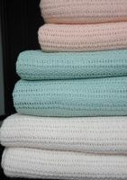 100% cotton Cellular Blankets