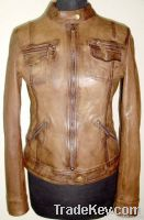 Capucine Women Waxed Leather Jacket