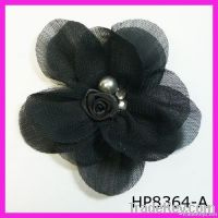 2012 Latest charming chiffon and mesh floral hair accessory
