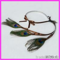 Fashion peacock feather hair band
