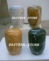 Onyx, Marble, Fossil Stone Ash Jar, Ash Container, Ash Casket, Pet urn