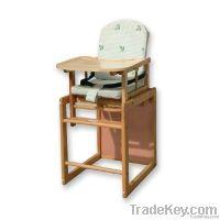 Bamboo Baby Highchair, wooden Natural Highchair