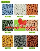 Color clay pebbles