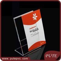 Custom L shape acrylic tent card holder reserved table sign business card holder sign Ticket holder