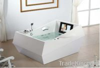 1800*1300*880mm Freestanding Jacuzzi  Bathtub With TV