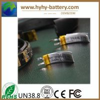 Curved battery, curved lithium battery 3.7v 36mah rechargeable for iwatch, bracelet watch