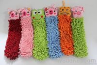 Chenille fabric hand towel wipe