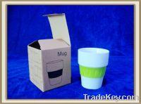 11 oz porcelain mug no handle with silicone