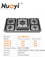Built In Gas Stove/Gas Hob/five Burners Stove in stainless steel/Cook Top/Mid East market
