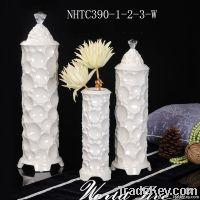 White Ceramic Vase Decoration
