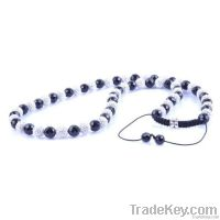 36 pcs clay crystal pave ball shamballa necklace handmade