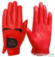 Red cabretta Golf glove
