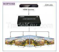 1.4V HDMI Splitter support 4kx2k and 3D