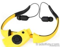 waterproof mp3 headphone with FM IPX8