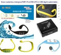 Swimming bone conduction Mp3 player hearing protection