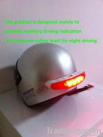 LED break and turn light for helmet