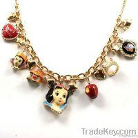 2012 new styles disney snowwhite charms chocker necklace