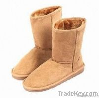 Double-layer flat snow boots for parent-child, simple and classical