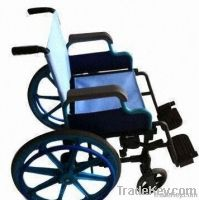 Wheelchair, Made of Plastic Alloy-blue