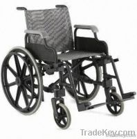 Wheelchair, Made of Plastic Alloy-Grey