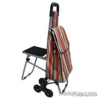 portable shopping/handcart with stool