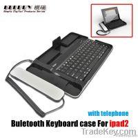 Bluetooth Aluminum Metal keyboard with telephone for ipad2
