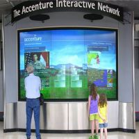 120 inch Infrared Multi Touch Wall/ Interactive Touch Wall 6 Points+