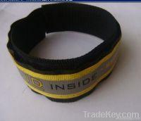 Stainless steel id bracelet Medical ID Bracelet velcro bracelt