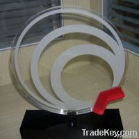 New!Clear Round Exquisite Acrylic Trophy&Awards