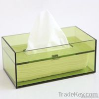 Hot!Green Rectangle Custom Acrylic Napkin/Tissue Hplder