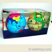 Hot!!Clear Rectangle  Custom Lucite/Acrylic Embedment with Globe