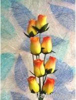 artificial flower wooden rose