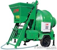 JZM 350 elctric portable mini concrete mixer machine with lift