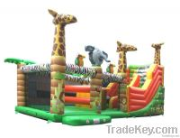 Inflatable playground for amusement park