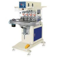 LTY-160DZ Pneumatic 4 colors pad printing machine with conveyor