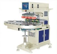 LTY-300DZ Pneumatic 4 colors pad printing machine with conveyor