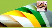 PVC half-hard film for furniture or decorative material