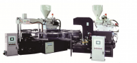 Rotary pvc/pcu air blowing machine for making single and double color slipper,sandal,shoes in thermaplastic