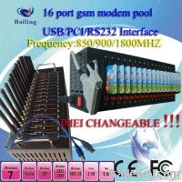 GSM GPRS 16 port USB modem pool for bulk sms  wavecom/siemens module