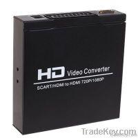 Scart+HDMI to HDMI converter