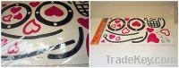 Cartoon Hearts Wall Decoration Sticker